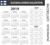 finnish calendar for 2019  2020 ... | Shutterstock . vector #1347282248
