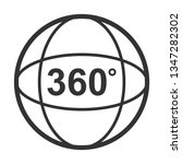 icon of angle 360 degrees video ... | Shutterstock . vector #1347282302