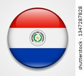 flag of paraguay. round glossy... | Shutterstock . vector #1347287828
