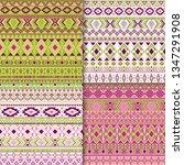 navajo tribal ethnic motifs... | Shutterstock .eps vector #1347291908