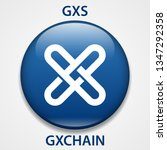 gxchain coin cryptocurrency... | Shutterstock . vector #1347292358