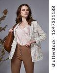fashion beauty model curly dark ... | Shutterstock . vector #1347321188