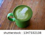 Matcha Latte in a green mug