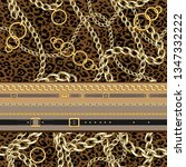 seamless pattern with belts and ... | Shutterstock .eps vector #1347332222