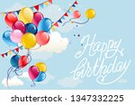 happy birthday background with... | Shutterstock .eps vector #1347332225