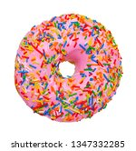 colorful donut isolated on... | Shutterstock . vector #1347332285