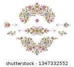 vector set of floral elements... | Shutterstock .eps vector #1347332552