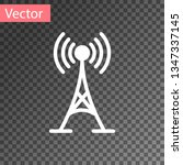 white antenna icon isolated on... | Shutterstock .eps vector #1347337145
