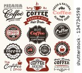 collection of vintage retro... | Shutterstock .eps vector #134734598