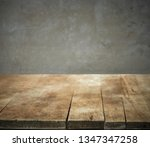 old wood kitchen table top and... | Shutterstock . vector #1347347258