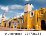 royal chapel  cholula  puebla... | Shutterstock . vector #134736155
