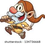 old dwarf miner. vector clip... | Shutterstock .eps vector #134736668
