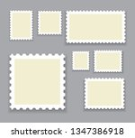 blank postage stamps template... | Shutterstock .eps vector #1347386918