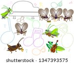 a concert with songs and... | Shutterstock .eps vector #1347393575