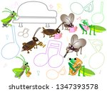 a concert with songs and... | Shutterstock .eps vector #1347393578
