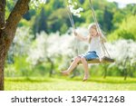 cute little girl having fun on... | Shutterstock . vector #1347421268