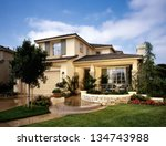 home exterior of house with... | Shutterstock . vector #134743988