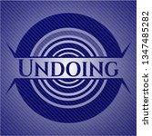 undoing with denim texture | Shutterstock .eps vector #1347485282