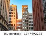 new york city street view of...   Shutterstock . vector #1347492278