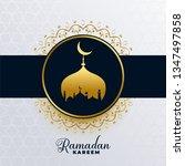 islamic ramadan kareem golden... | Shutterstock .eps vector #1347497858