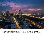 scenic of sunset skyline with... | Shutterstock . vector #1347511958