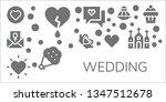 wedding icon set. 11 filled... | Shutterstock .eps vector #1347512678