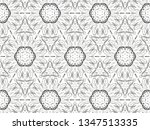 ornament with elements of black ... | Shutterstock . vector #1347513335
