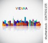 vienna skyline silhouette in... | Shutterstock .eps vector #1347531155