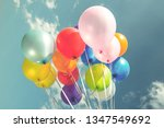 colorful festive balloons over...   Shutterstock . vector #1347549692