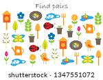 find pairs of identical... | Shutterstock .eps vector #1347551072