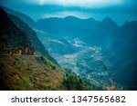amazing mountain landscape at...   Shutterstock . vector #1347565682