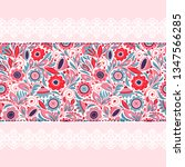 vintage seamless ribbon with... | Shutterstock .eps vector #1347566285