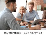business people discussing work ... | Shutterstock . vector #1347579485