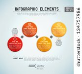detailed colorful infographic... | Shutterstock .eps vector #134757986