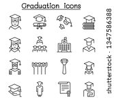 graduation and commencement... | Shutterstock .eps vector #1347586388