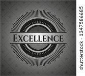 excellence realistic dark emblem | Shutterstock .eps vector #1347586685