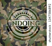 undoing on camouflage pattern | Shutterstock .eps vector #1347586892