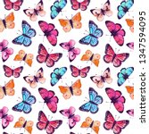 seamless pattern with... | Shutterstock . vector #1347594095