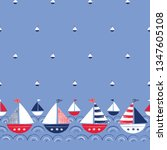 whimsical hand drawn ships in...   Shutterstock .eps vector #1347605108