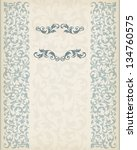 vector vintage ornate border... | Shutterstock .eps vector #134760575