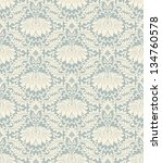 vector seamless vintage damask... | Shutterstock .eps vector #134760578