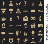 great wedding icons set. simple ... | Shutterstock .eps vector #1347608282