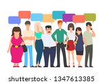 people group chat communication ... | Shutterstock .eps vector #1347613385