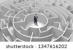 young businessman standing in a ...   Shutterstock . vector #1347616202