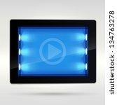blue back lighted tablet pad...