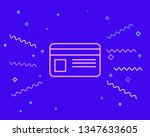 happy style payment   credit...   Shutterstock .eps vector #1347633605