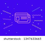 happy style payment   credit...   Shutterstock .eps vector #1347633665