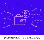 happy style wallet with dollars ...   Shutterstock .eps vector #1347633722