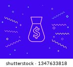 happy style money bag with...   Shutterstock .eps vector #1347633818
