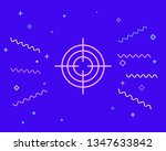 happy style target aim icon ... | Shutterstock .eps vector #1347633842